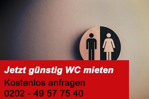 Jetzt günstig WCs mieten - Sonius Toilettenvermietung